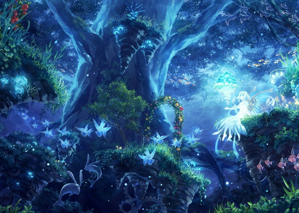 Enchanted Faerie Forest At Night Audio Atmosphere